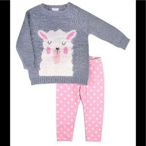 Nannette Llama Embroidered Sweater & Leggings Set